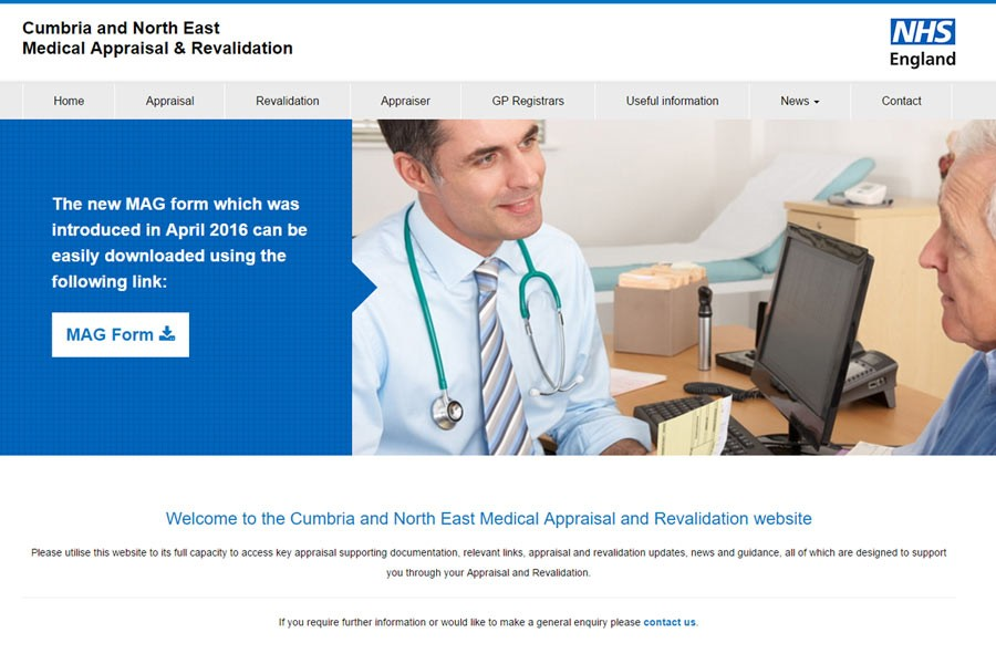 NHS England - Cumbria and North East Medical Appraisal & Revalidation