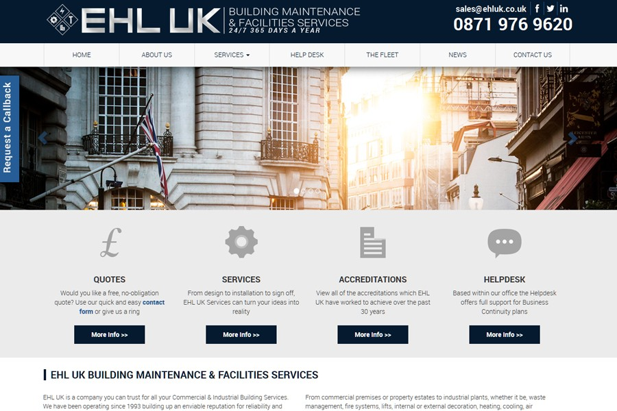 EHL UK - Website