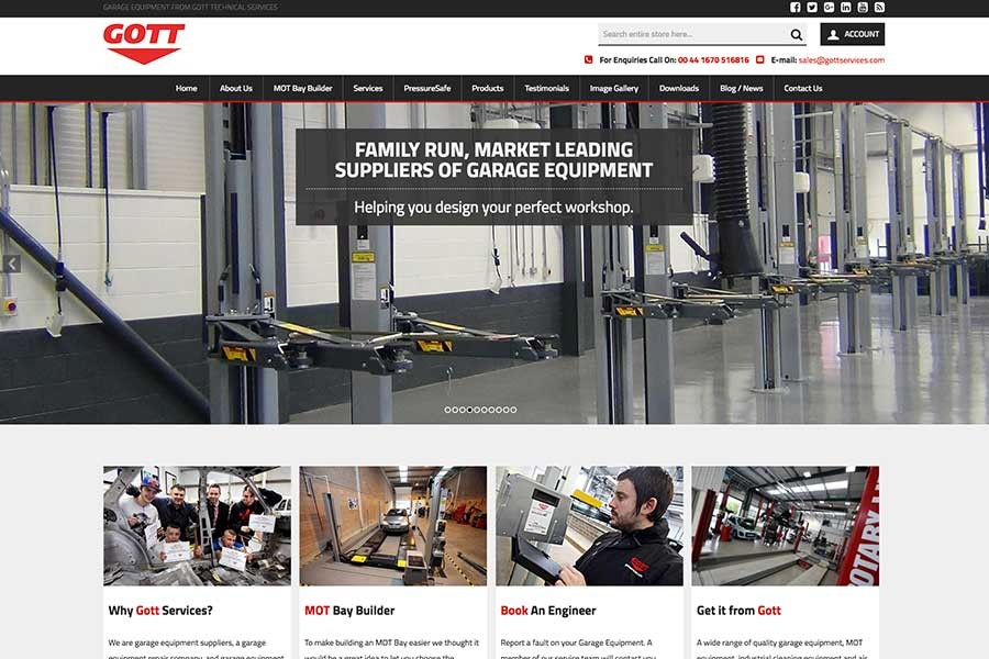 Gott Services Homepage