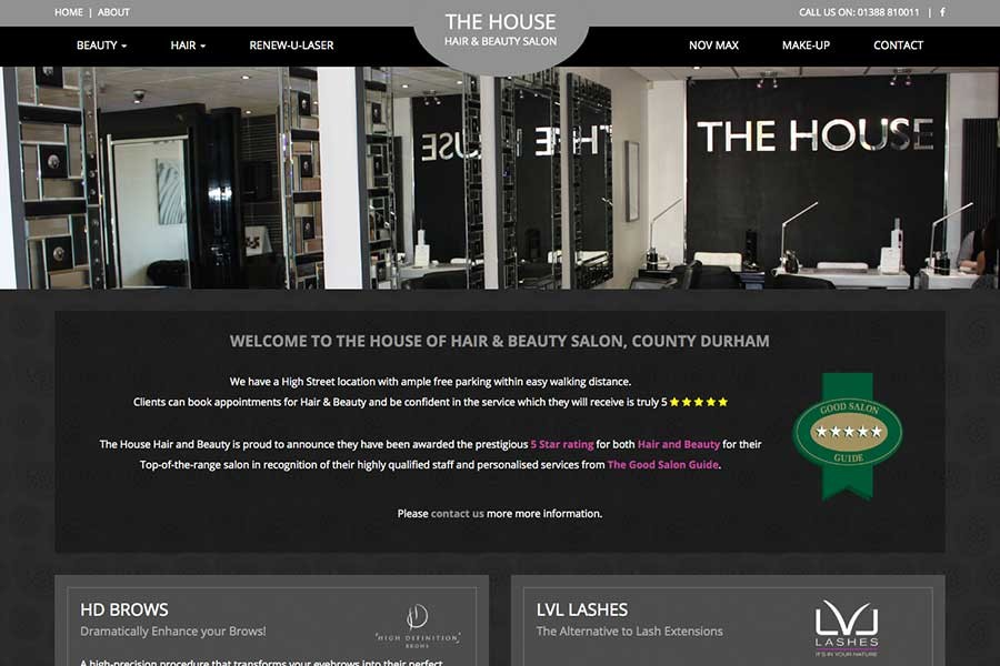 House Hair and Beauty Home Page